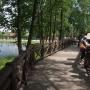 Białostockie ZOO w nowej odsłonie w 2013 roku zachęca do spacerów rodzinnych. Widoczną tu kładką możemy przejść obok ptactwa wodnego nad malowniczy staw.