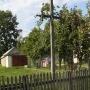 Zabiele - Drewniany krzyż przydrożny we wschodniej części wioski