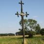 Jatwieź Duża - Stary drewniany krzyż przydrożny