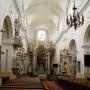 Wnętrze kościoła pw. Świętej Trójcy.