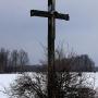 Krzyz drewniany przy drodze, Wielkanoc 2013r.