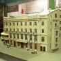 Hotel Ritz - makieta- znajdujący się w Muzeum Historycznym.