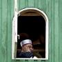 Sabantuj 2014.Azan – wezwanie do wspólnej modlitwy (nawoływanie muezina Janusza Aleksandrowicza z minaretu.