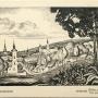 Panorama Supraśla z widocznym Monasterem, kościołem katolickim oraz