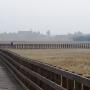 Przedwiosenny widok na Waniewo z kładki.