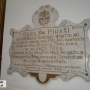 Tablica w kościele św. Trójcy w Janowie Podlaskim upamiętniająca wizytę nuncjusza apostolskiego, póżniejszego papieża Piusa XI w 1919 r.