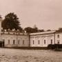 Na zdjęciu widać zamurowany łącznik pomiędzy pałacem, a bocznym skrzydłem.