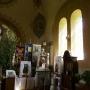 Wnętrze cerkwi p.w. Podwyższenia Krzyża Świętego.