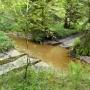 Jadąc przez las możemy napotkać na przepływający strumień. Nie radziłbym przejeżdżać tędy osobowym samochodem.