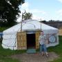 A oto oryginalna tatarska jurta stojąca w gospodarstwie Pani Dżennety.