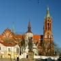 Katedra p.w. Wniebowzięcia NMP w Białymstoku. Widok od strony ratusza.