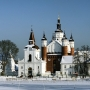 Panoramiczne spojrzenie na monaster.