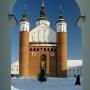 Zrekonstruowana cerkiewka obronna.