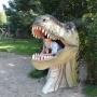 Pamiątkowe zdjęcie w paszczy dinozaura na koniec zwiedzania.