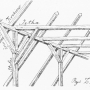 Wiązanie dachowe dworu jeżewskiego (rycina oryginalna z książki