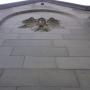 Płaskorzeźba anioła na tylnej ścianie kaplicy Buchholtzów.