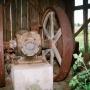 Hołowczyce - Silnik spalinowy Perkun napędzający urządzenia koźlaka.