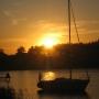 Zachód słońca nad Jeziorem Rajgrodzkim w Czarnej Wsi