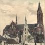 Na początku XX wieku przy dawnym szpitalu wzniesiono kościół farny. Ze zbiorów J. Murawiejskiego.