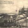 Na tej pocztówce z okresu niemieckiego (1914- 1919) wyjątkowo widać w całości budynek odwachu. Widać tu wyraźnie trójkątny tympanon nad wejściem do budynku, który na pocztówkach międzywojennych już nie istnieje. Ze zbiorów J. Murawiejskiego.