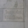 Podpis architekta na ścianie kaplicy grobowej