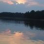 Zachód słońca nad Jeziorem Rajgrodzkim.