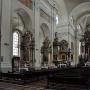 Barokowe wnętrze kościoła p. w. Ofiarowania Matki Bożej.