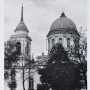 Sobór p. w. św. Mikołaja, a nad nim prawdopodobnie niemiecki bombowiec. 1943 rok. Ze zbiorów J. Murawiejskiego.