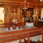 Schludne wnętrze domu, jak wszystko w gospodarstwie utrzymane jest w przyjaznym wiejskim klimacie.
