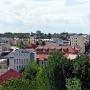 Panorama w kierunku Rynku Kościuszki z poziomu dachu kościoła Wniebowzięcia NMP.