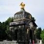 Pawilon pod Orłem zwieńczony pozłacanym wyobrażeniem ptaka z herbu Jana Klemensa Branickiego.