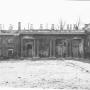 Ruiny Pałacu Branickich, stan z roku 1945. Fotografia wykonana przez Wł. Paszkowskiego.
