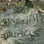 Kamień nagrobny z czytelną datą 1769.