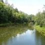 Ujście rzeki Rospuda do jeziora o tej samej nazwie.