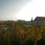 Z Góry Zamkowej z widocznym odcinkiem rzeki Narew