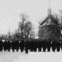 Cerkiew unicka ufundowana przez właścicieli Gródka -Potockich pobudowana została około 1788 r. Ukazem z 23 marca 1839 r. car Mikołaj Iwłączył Kościół unicki w prawosławie. Świątynia spłonęła w 1943 r.