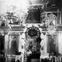 Królewskie wrota oraz ikonostas w przedwojennej cerkwi.