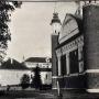 Widok na północna ścianę Monasteru Zwiastowania NMP. Zdjęcie z reprodukcji (1920r)zrobione dzięki uprzejmości Duszpasterzy z Monasteru.