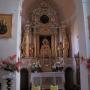 wnętrze kościoła parafialnego p.w. św. Andrzeja Apostoła, ołtarz główny.