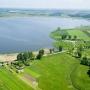 Jezioro Zygmunta Augusta z lotu ptaka. Fot. Urząd Miejski w Knyszynie