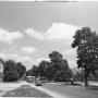 Widok na ulicę Ludową ze skrzyżowania z ulicą 1 Maja