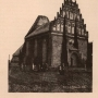 Ruiny zamku i kaplicy zamkowej fotografia z końca XIX wieku. wyd.