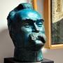 Muzeum Ziemi Sokólskiej- dział historyczny. Głowa Pierwszego Marszałka Polski autorstwa słynnego rzeźbiarza Alfonsa Karnego.