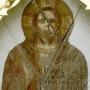 Chrystus- malowidło z frontonu cerkwi.