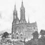Pocztówka z okresu budowy kościoła.