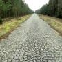Po lewej stronie były tory sowieckie (szerokie). Po prawej polskie. Pozostała nawierzchnia rampy z kostki granitowej.
