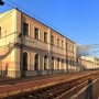 Dawny dworzec kolei Petersbursko- Warszawskiej od strony peronów.